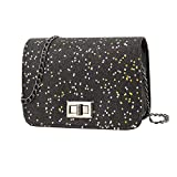 Gabrine Womens Shoulder Crossbody Evening Bag Handbag Clutch Purse Sequin for Dailywear Wedding Party