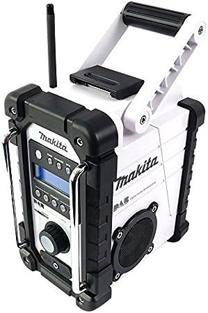 Makita DMR109W White DAB Jobsite Radio FM AM 7.2V-18V AuxIn Stereo Loud Speakers