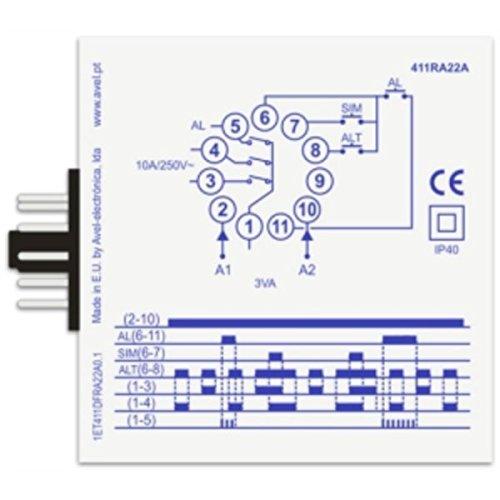 Relé de Alternancia central y fuentes 2 motores + alarma a ...