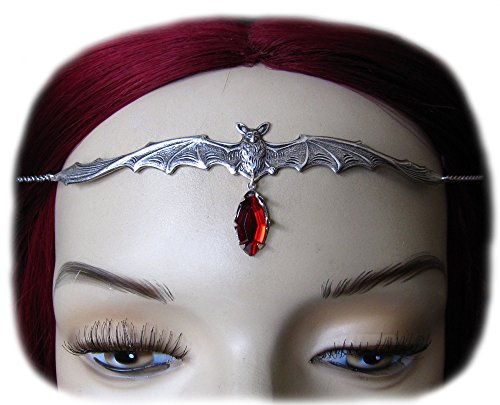 Vampire Bat Headpiece w/ Red Stone (Tiara Bat Gothic)