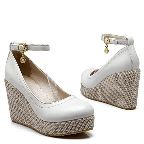 White Zanpa Compense Mode Chaussures Femmes nwXNOP80k