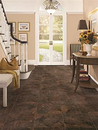DuraCeramic Rustic Stone 1563 x 1563 Vinyl Tile in Brown Earth