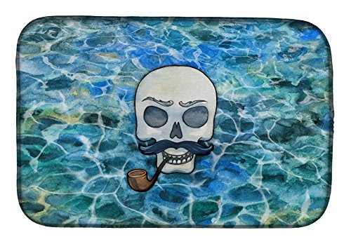 Skeleton Skull Pirate Dish Drying Mat BB5345DDM