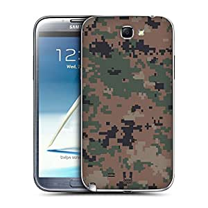 Head Case Designs Marpat Woodland Military Camo Replacement Battery Back Cover for Samsung Galaxy Note 2 II N7100