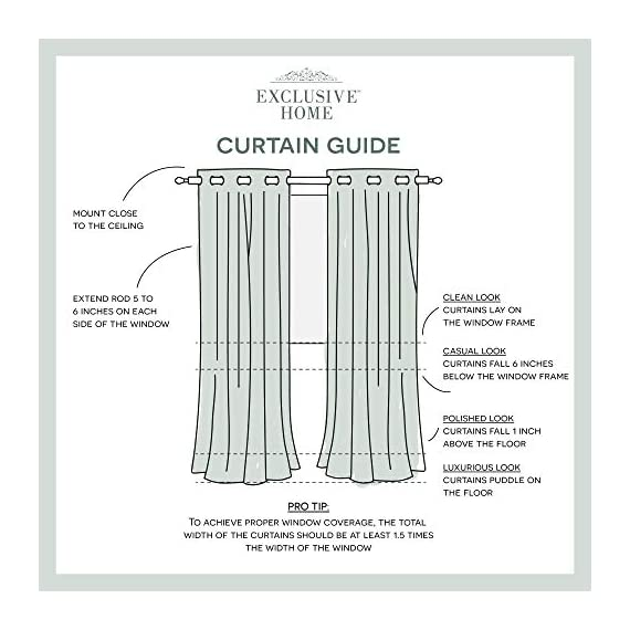 "Exclusive Home Curtains Oakdale Sheer Textured Linen Grommet Top Curtain Panel Pair, 54x84, Taupe, 2 Piece - Oakdale panels offer a natural printed motif on a sheer, textured linen look fabric Includes:  Two (2) curtain panels, each measuring:   54""W x 84""L 8 matte silver grommets per panel; inside diameter for curtain rod measures 1-5/8"" - panel sewn with 4"" heading; 3"" bottom hem - living-room-soft-furnishings, living-room, draperies-curtains-shades - 51g7fuDjA4L. SS570  -"