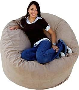 cozy sack 4 feet bean bag chair large buckskin kitchen dining. Black Bedroom Furniture Sets. Home Design Ideas