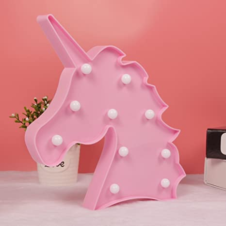 WHATOOK Unicorn Party Supplies Kids Unicorn Light Battery Operated LED  Night Light Wall Living Room,