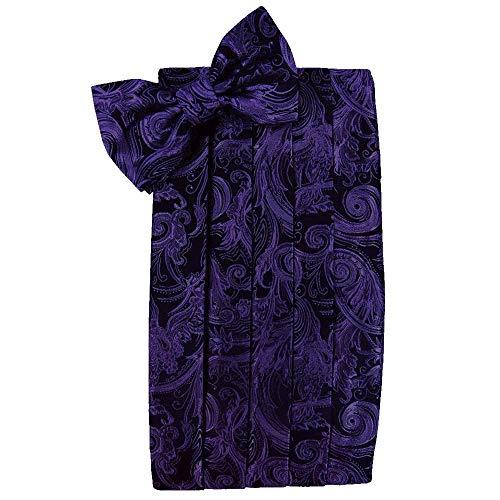 (Men's Tapestry Cummerbund & Bow Tie Set - Many Colors (Purple))