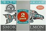 Alaska Smokehouse Smoked Salmon Duo Pepper Garlic, Sockeye, 16 Ounce