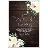 Faux Wood and Flowers Unplugged Wedding Ceremony Sign Poster