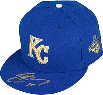 Eric Hosmer Kansas City Royals Autographed New Era Opening Day Gold Logo Cap - Autographed Hats