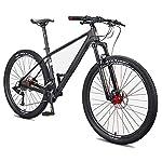 51g7gr%2BwvJL. SS150 NENGGE Uomo Mountain Biciclette, 27.5 Pollici Fibra di Carbonio Mountain Bike, Hardtail Freni a Disco Grande Pneumatico…