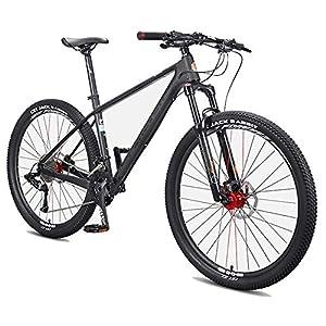 51g7gr%2BwvJL. SS300 NENGGE Uomo Mountain Biciclette, 27.5 Pollici Fibra di Carbonio Mountain Bike, Hardtail Freni a Disco Grande Pneumatico Mountain Bike,36 Speed