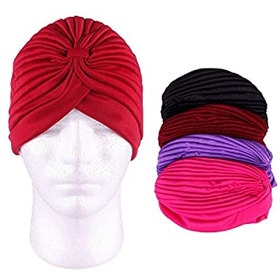 Banggood 1X Unisex Fashion Indian Style Hat Stretchable Turban Hat HairHead Wrap Cap Headwrap
