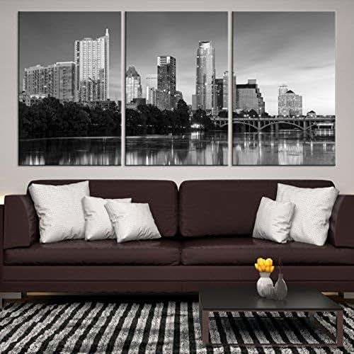 Amazon.com: Texas Austin City Skyline Wall Art Canvas