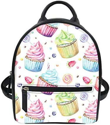 Dessert Pattern Girls Mini Casual Backpack Purse Kids School Travel Bag