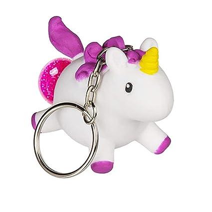 OOTB Llavero de Unicornio Que Hace Caca Rosa con Brillo en ...