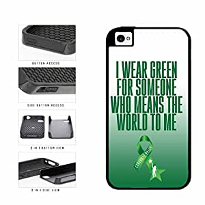 Green Ribbon Support Cerebral Palsy Dual Layer Phone Case Back Cover Apple iPhone 6 plus 5.5 includes diy case Cloth and Warranty Label