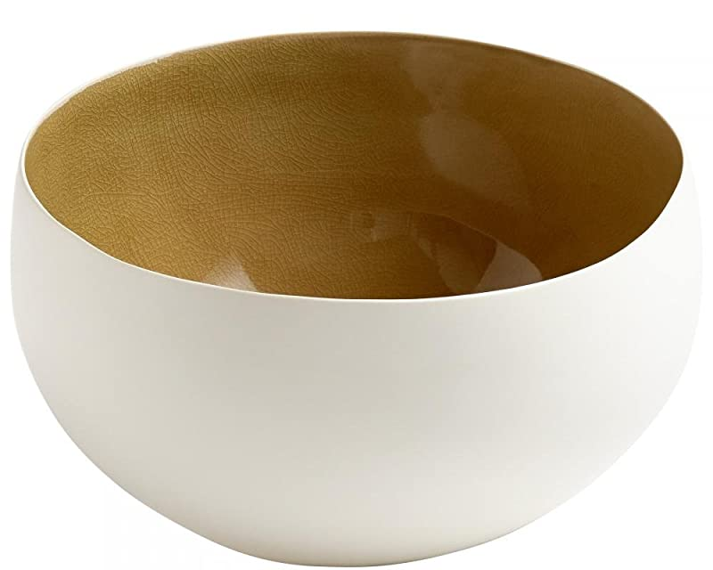White Ceramic Two Toned Latte Bowls (Various Sizes) designed by Cyan Design