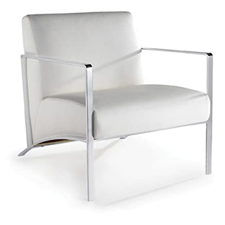 Risa Lounge Chair Color: White Naugahyde