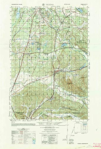 (YellowMaps Tenino WA topo map, 1:50000 Scale, 15 X 15 Minute, Historical, 1964, Updated 1965, 29.2 x 19.9 in - Paper)