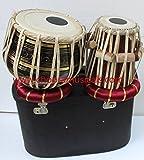 Chopra Tabla Drum Set, Pro Brass Colored Bayan, Best Dayan with, Hammer, Cushions & Box