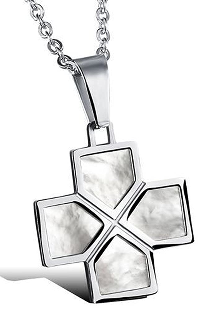 lovers titanium steel natural shell pendant necklaces AmaranTeen