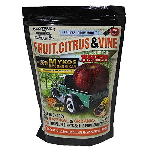 Fruit, Citrus & Vine 4-2-3 Organic Fertilizer with MYKOS Mycorrhizae, 2.2 Pound Bag