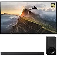 Sony XBR65A1E 65 OLED 4K HDR X-Reality PRO Triluminos Android TV with Google Home Compatibility 3840x2160 & Sony HTX9000F 2.1Ch 4K HDR Compatible Dolby Atmos Soundbar with Bluetooth