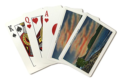 Willoughby Lake, Vermont - Sunset Scene on the Lake (Playing Card Deck - 52 Card Poker Size with Jokers)