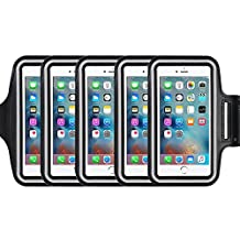 5Pack Armband for Apple iPhone 7,7 Plus,6 6s Plus, LG G5,Samsung Galaxy Note 5 4 3 Note Edge S4 S5 S6 LG G3 G4 G5 Note 4 5 7 Universal case,Great for Running,Exercise Gym Workout not for iphone 4 4s