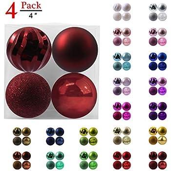 Set of 8 Vickerman 480359-5.5 Purple Finial 4 Assorted Finish Christmas Tree Ornament N500166