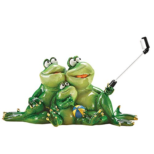 - Collections Etc Selfie Time Frog Family Tabletop Figurine Novelty Decoration