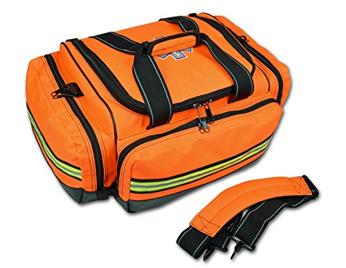 Lightning X Premium Stocked Modular EMS/EMT Trauma First Aid Responder Medical Bag + Kit - Fluorescent Orange by Lightning X Products (Image #2)