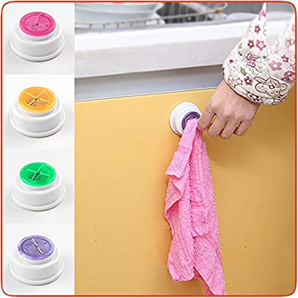 XINGKEJI Kreative Selbstklebende Multifunktions-Handtuchhaken abnehmbare Waschlappen-Halterung f/ür K/üche und Zuhause Rose 5.3cm X 2.5cm