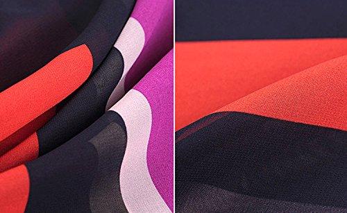 T Shirt Damen Kurzarm Große Größen Basic In Farbe Gestreift Rundhals Elegant Locker Irregular Fledermausärmel Chiffonbluse