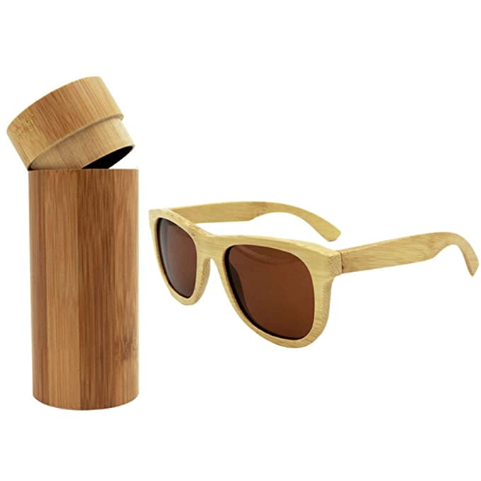 Gafas de sol unisex con montura de madera de bambú ...