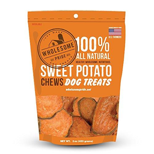 Wholesome Pride Pet Treats Sweet Potato Chews Dog Treats - 8oz - Grain Free, All Natural, Vegetarian, Made in the USA
