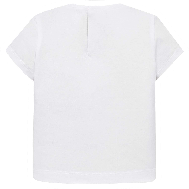 Mayoral wei/ß M/ädchen T-Shirt Kurzarm mit s/ü/ßem Motiv 1.014w