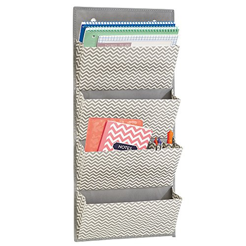 Wall Mount/Over the Door Fabric Paper & File Storage Organizer