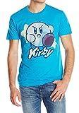 kirby blue - Kirby Men's with Stars Screen Printed T-Shirt, Blue, Medium