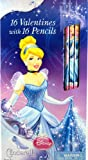 Disney Princess Cinderella 16 Valentines with 16 Pencils
