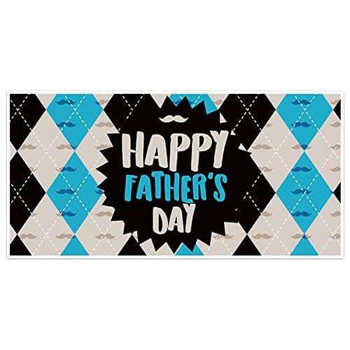 Amazon Com Argyle Father S Day Banner Party Backdrop Decoration