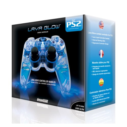 Playstation-2-Lava-Glow-Wired-Controller-in-gift-box-Blue