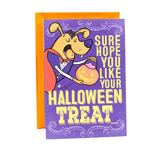 Hallmark Funny Halloween Card for Kids (Dog Picking Nose Joke)