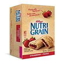 Kellogg's Nutri-Grain Strawberry Flavour 16 bars, 590g box