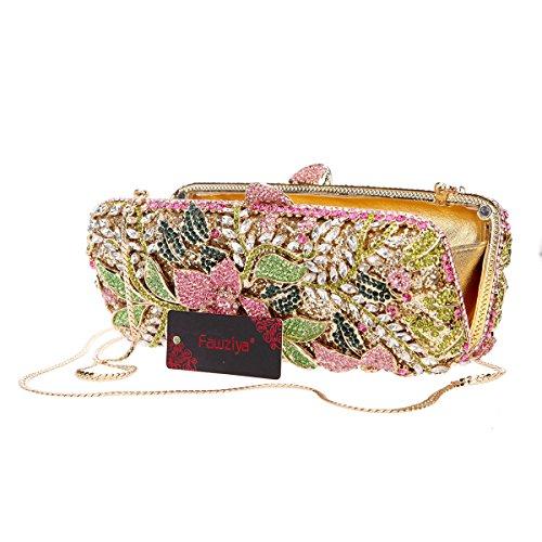 Multiculored Clutch Bling Girls Rhinestone Flower Bag Crystal For Fawziya Purses gxwqzZa7n6