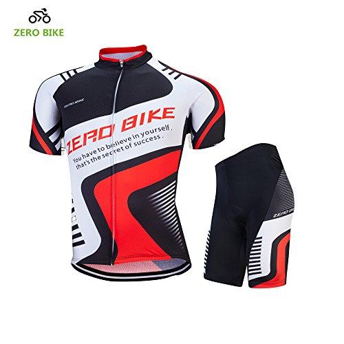 転倒スイッチ非常に怒っていますZEROBIKE™ 男性用 半袖 サイクルジャージ 上下セット 夏用 吸汗速乾 自転車ウエア サイクリング 4Dパッド パンツ アウトドア スボーツ タイツ