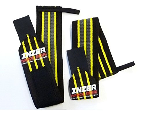 "Inzer Wrist Wraps - Gripper 20"" (Pair) Powerlifting Weight Lifting Wraps"
