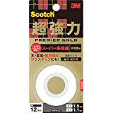 3Mスコッチ超強力両面テーププレミアゴールドスーパー多用途1巻KPS-12